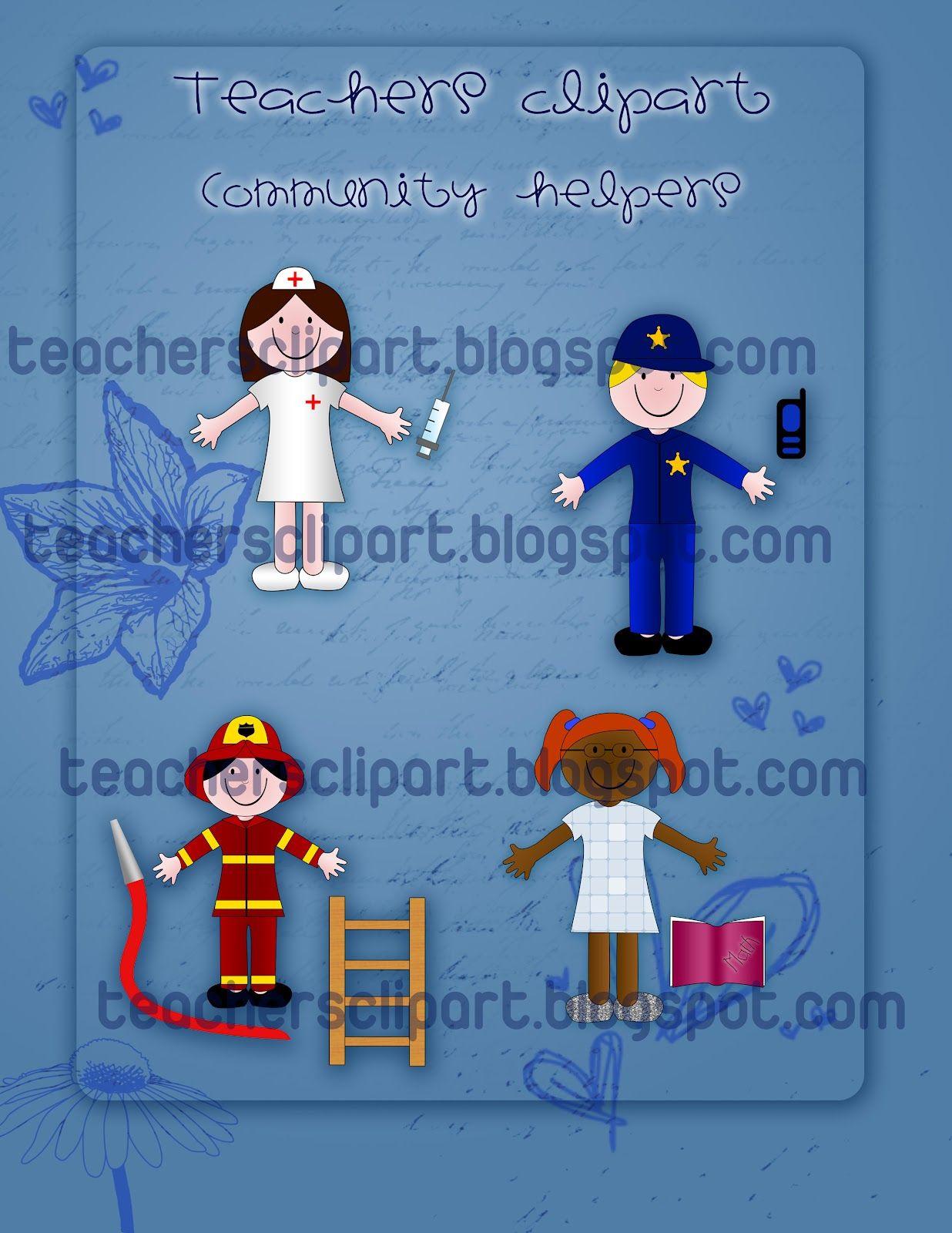 Teacher S Cliparts Community Helpers Clipart