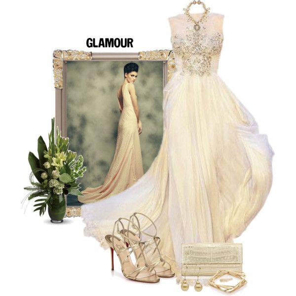 Glamorous by diane-shelton on Polyvore featuring moda, Christian Louboutin, Nancy Gonzalez, Erickson Beamon and ABS by Allen Schwartz