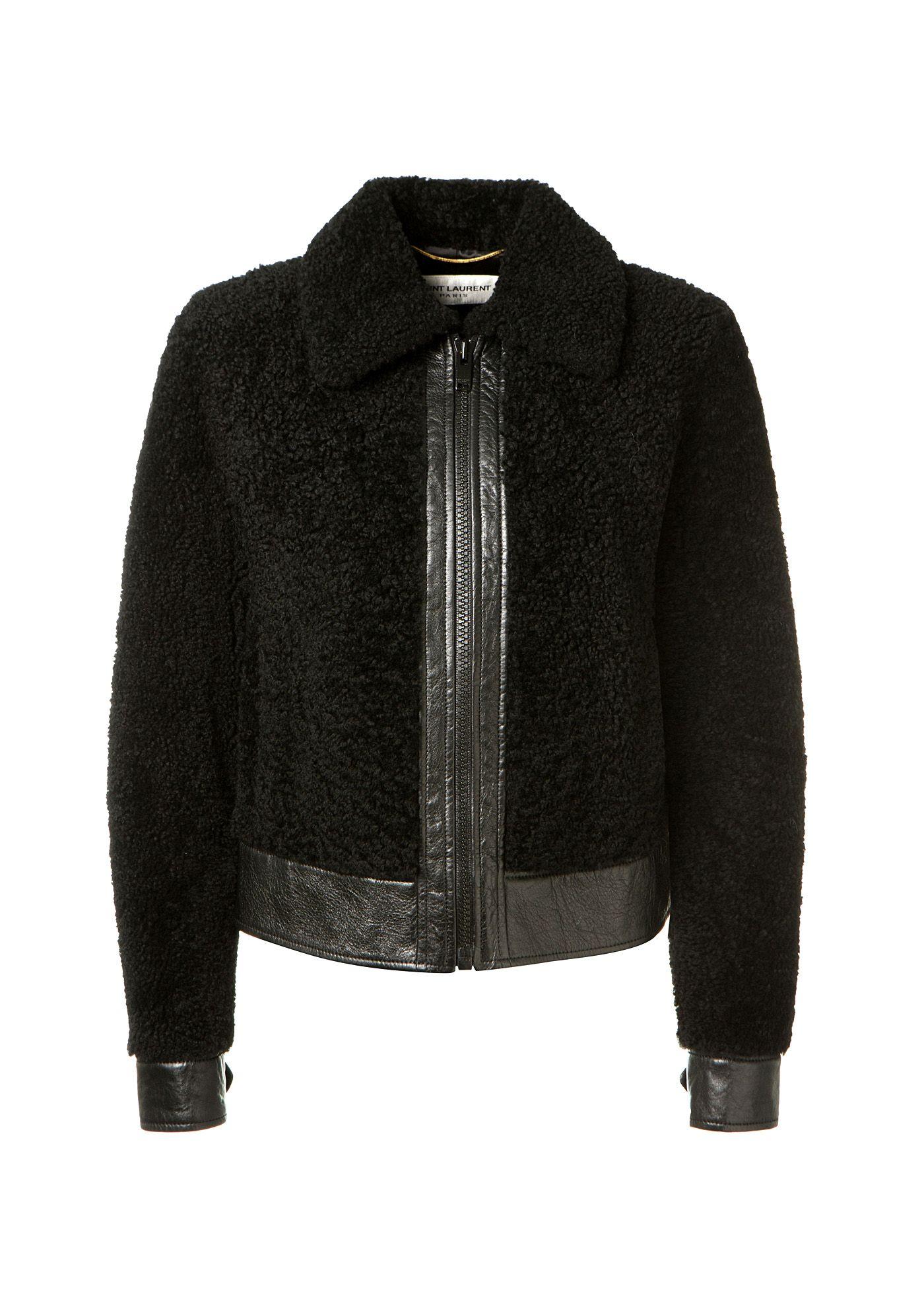 Saint Laurent Jackets Saint Laurent black shearling