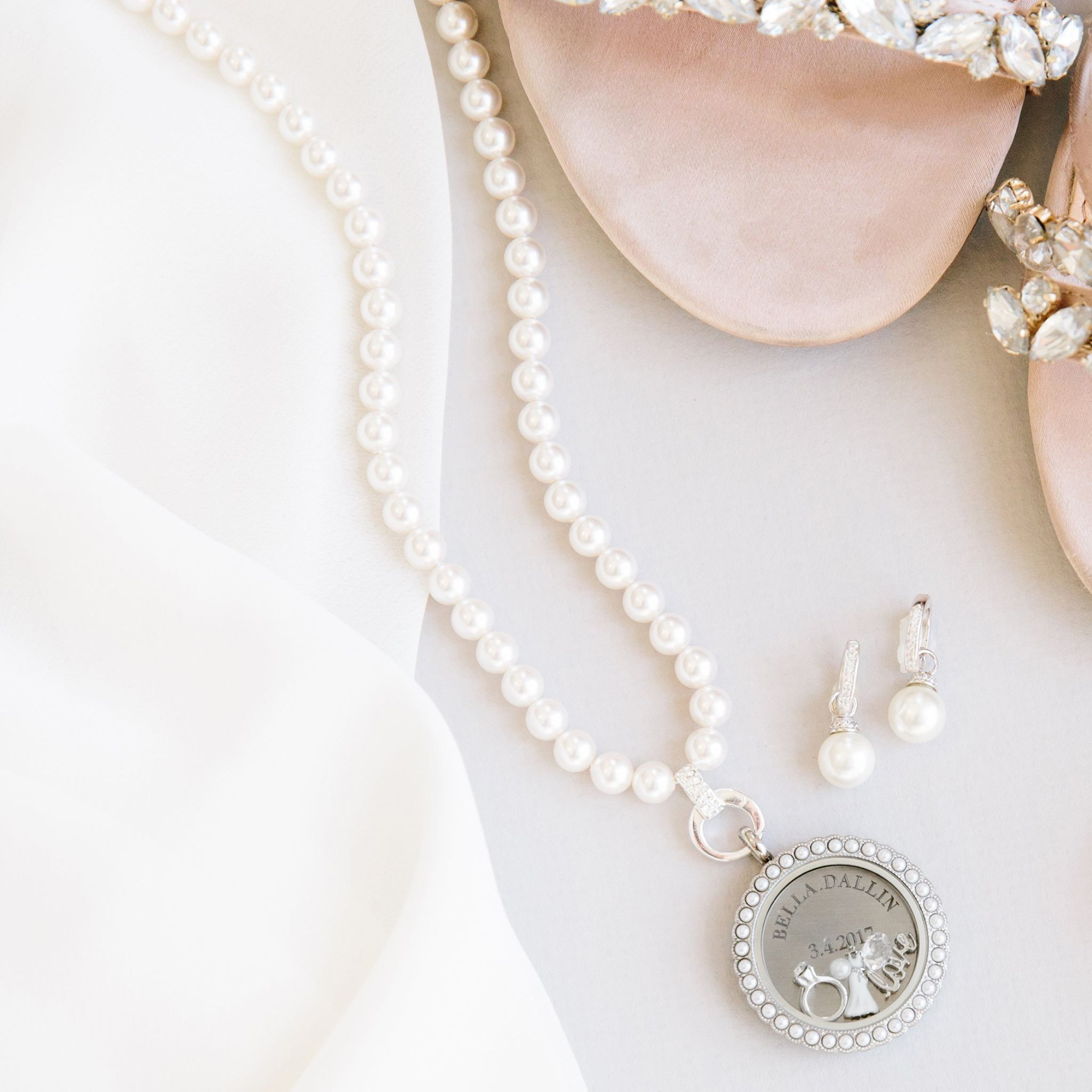 Origami owl pearl necklace classic style and wear with any origami owl pearl necklace classic style and wear with any origami owl locket click jeuxipadfo Choice Image