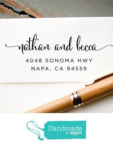 Self Inking Hand Calligraphy Font Return Address Stamp Pre Inked Custom Rubber Wedding Invitation Save The Date From InkMeThis