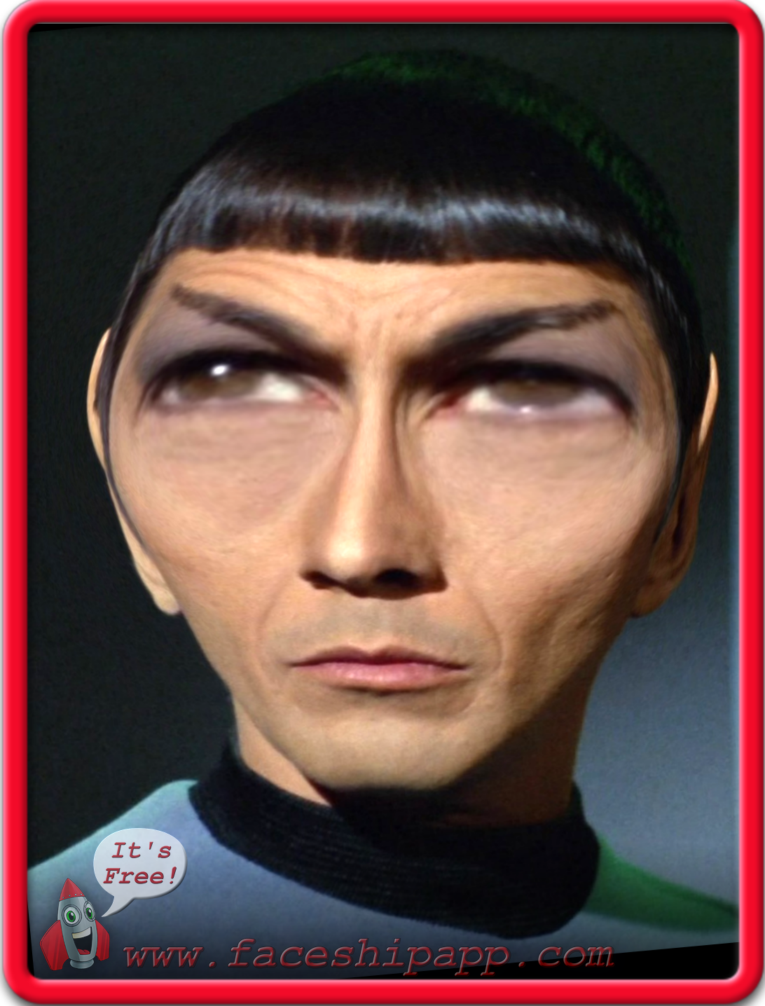 A Spock Variation, created with the new Face-changing app