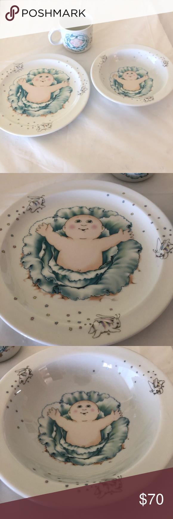1984 Cabbage Patch Royal Worcester Fine Porcelain In 2021 Kids Dishes Fine Porcelain Kids Dining
