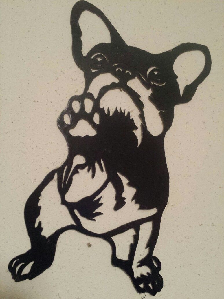 French Bulldog Metal Silhouette Hand Cut With Plasma Torch