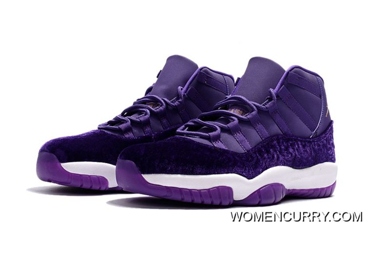 official photos 03cad c201e New Air Jordan 11 Heiress Purple Velvet Free Shipping