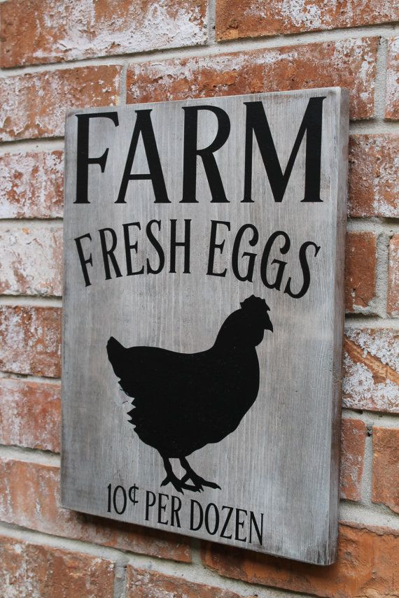 Farm Fresh Eggs Sign, Primitive Farm Sign, Fresh Eggs For ...