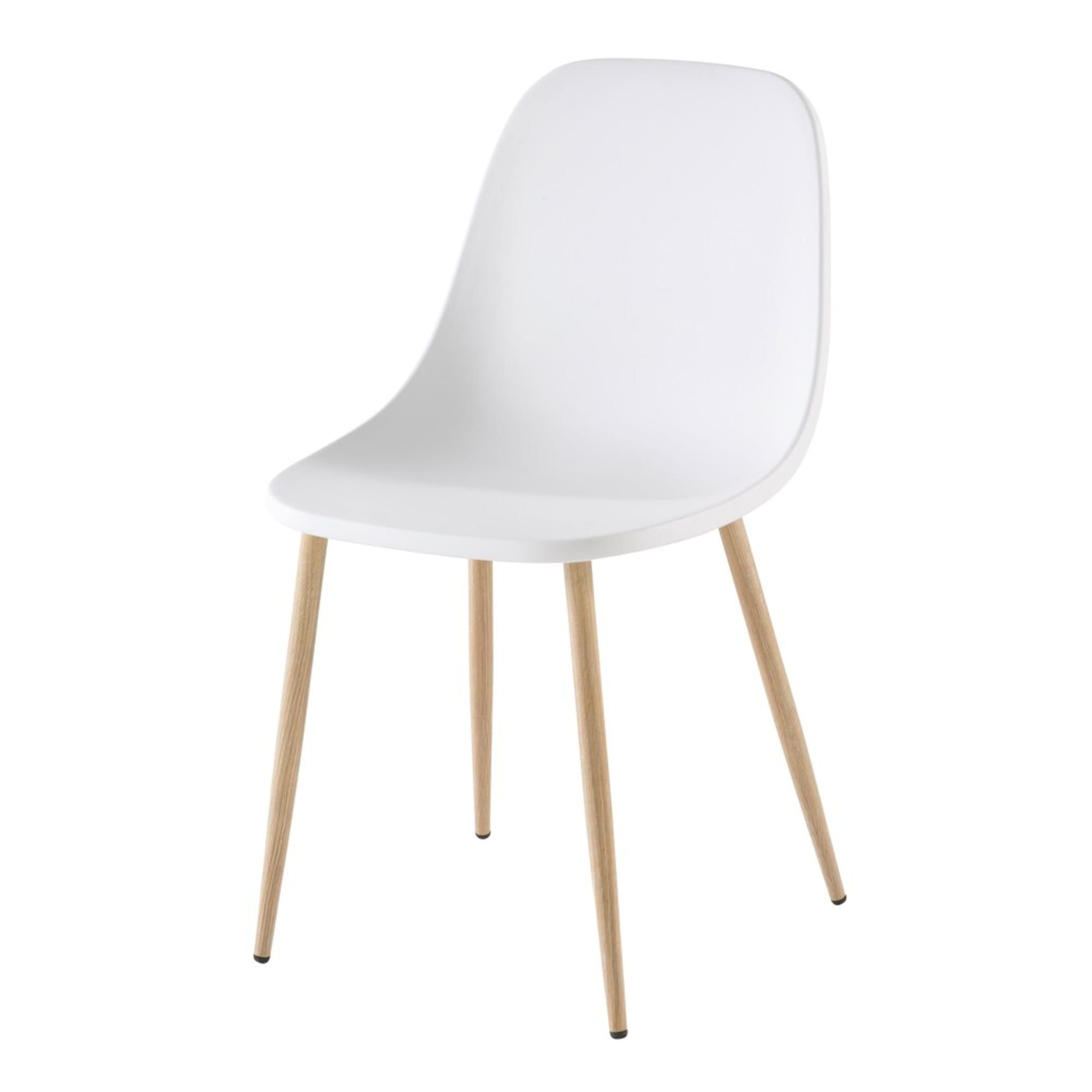 Contemporary White Chair Maisons Du Monde Chaise Contemporaine Chaise Scandinave Chaise