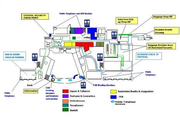 Riena Beatrix International Airport Map Aruba Aioutlet Aruba - Aruba map of us