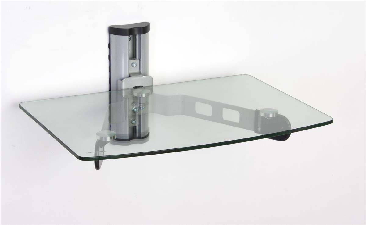 glass tv shelf for wall mount adjustable height clear tvs rh pinterest com glass shelves tv stand floating glass tv shelves