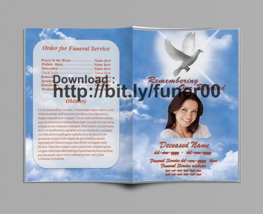Plantilla del Programa de Servicio Conmemorativo para Word para - free funeral program templates download