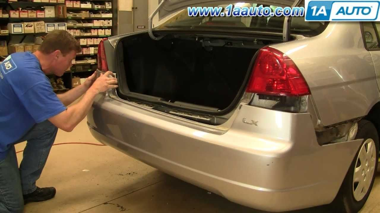 How to install replace taillight and bulb honda civic 01 05 1aauto com
