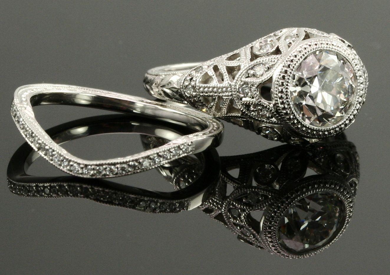 Antique engagement ring diamonds pinterest engagement ring