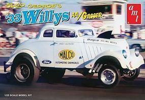 Amt Ohio George 1933 Willys Gasser Dragster Plastic Model Car Kit