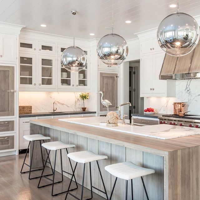 "Bridgehampton ""Driftwood Dream"" Kitchen  #bakesandkropp #finecabinetry #kitchendesign #hamptonsstyle #dreamkitchen #coastalliving #craftsmanship #newyorkdesigner #kitchenisland #kitcheninspo"