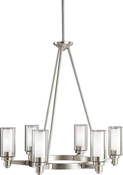Kichler 2344ni chandelier 6lt in brushed nickel chandelier kichler chandelier fixture model kichler chandelier in brushed nickel contemporary from the nickel steel finishes group in brushed nickel mozeypictures Images
