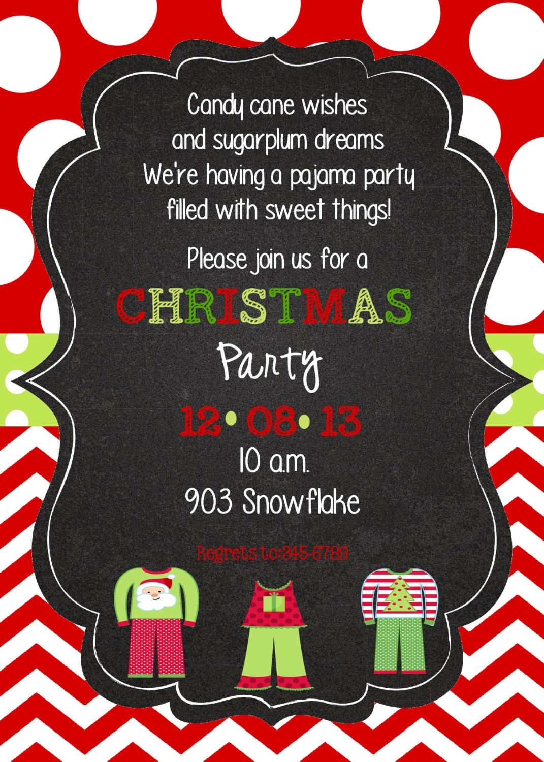 christmas pajama party invitation digital printable pj party by christmas pajama party invitation digital printable pj party by stickerchic on