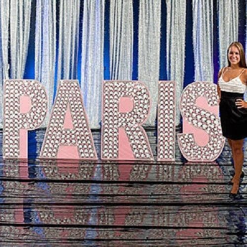 Paris glittering diamond letter set standee paris theme for Paris themed decor
