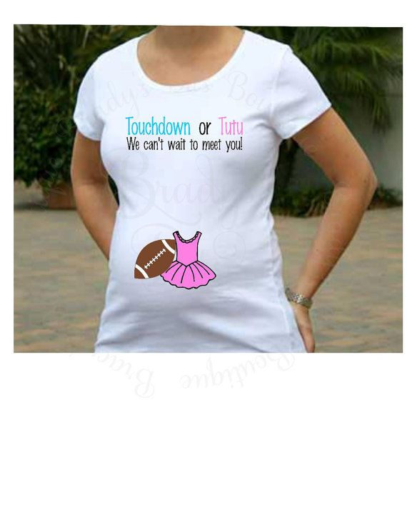 3f133923 Maternity Shirt Touchdowns or Tutus Gender Reveal by BradysBits ...