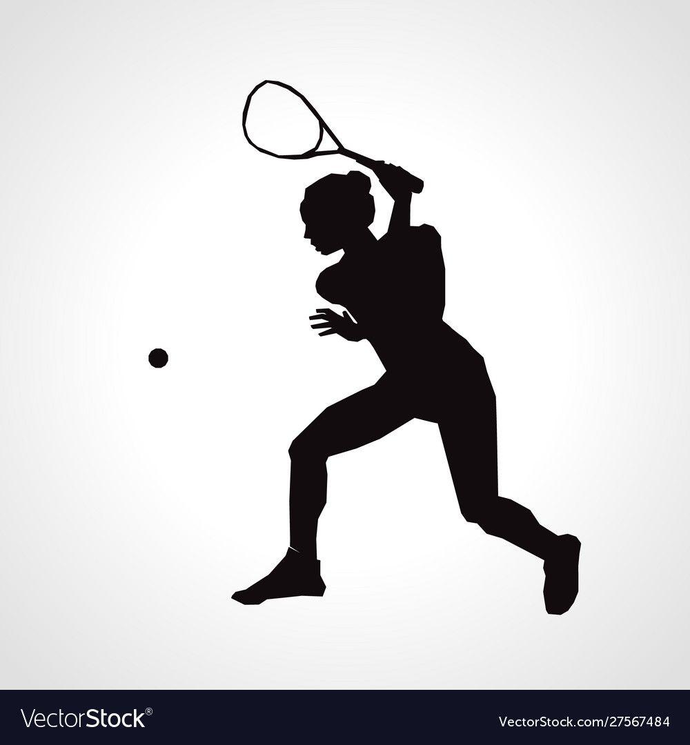 Female Squash Silhouette Squash Player Royalty Free Vector Affiliate Silhouette Squash Female Pl Volleyball Silhouette Silhouette Vector Vector Free