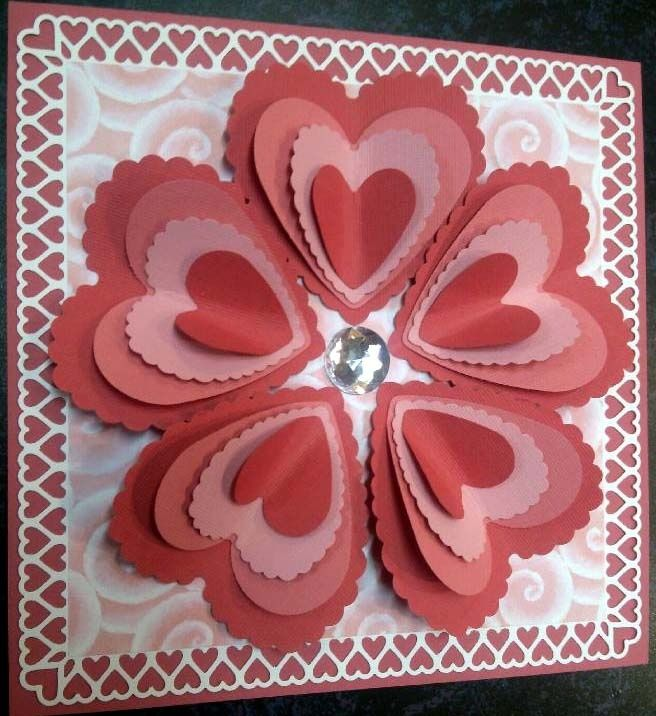 Handmade valentine cards handmade cards valentine for Valentines day card making ideas