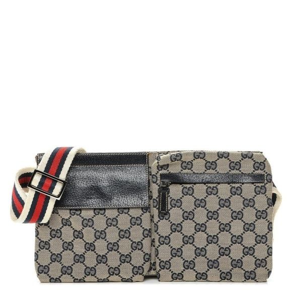 947baf58eba3 Gucci Handbags - Navy Monogram Belt Bag Fanny Pack Waist Pouch ...