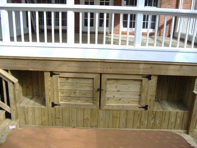Under Deck Storage Ideas: Inspiring Under Deck Ideas .