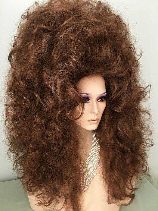 dd2b51ad4bddbb Two wigs made into one Enormous Drag Queen Wig, Drag, Queen, Wig, Medium  Auburn,Light Auburn, Dark Auburn, Creamy Blonde, Black, Bright Red