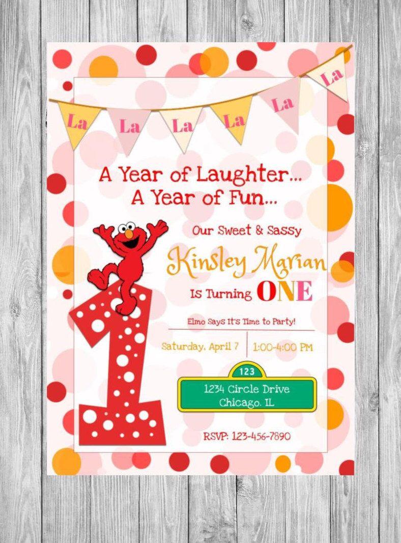 Elmo Invitation Sesame street invitation elmo birthday party by