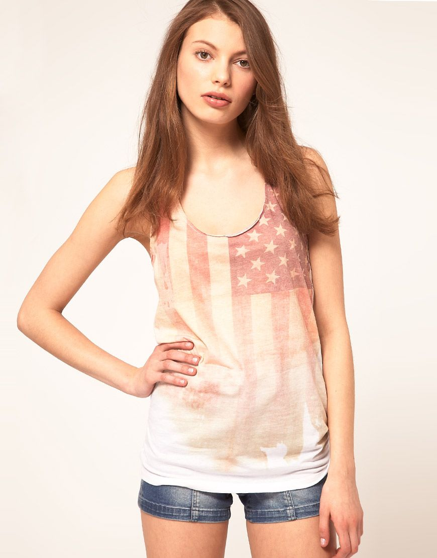 ASOS American Flag Tank...this is the one i want ...
