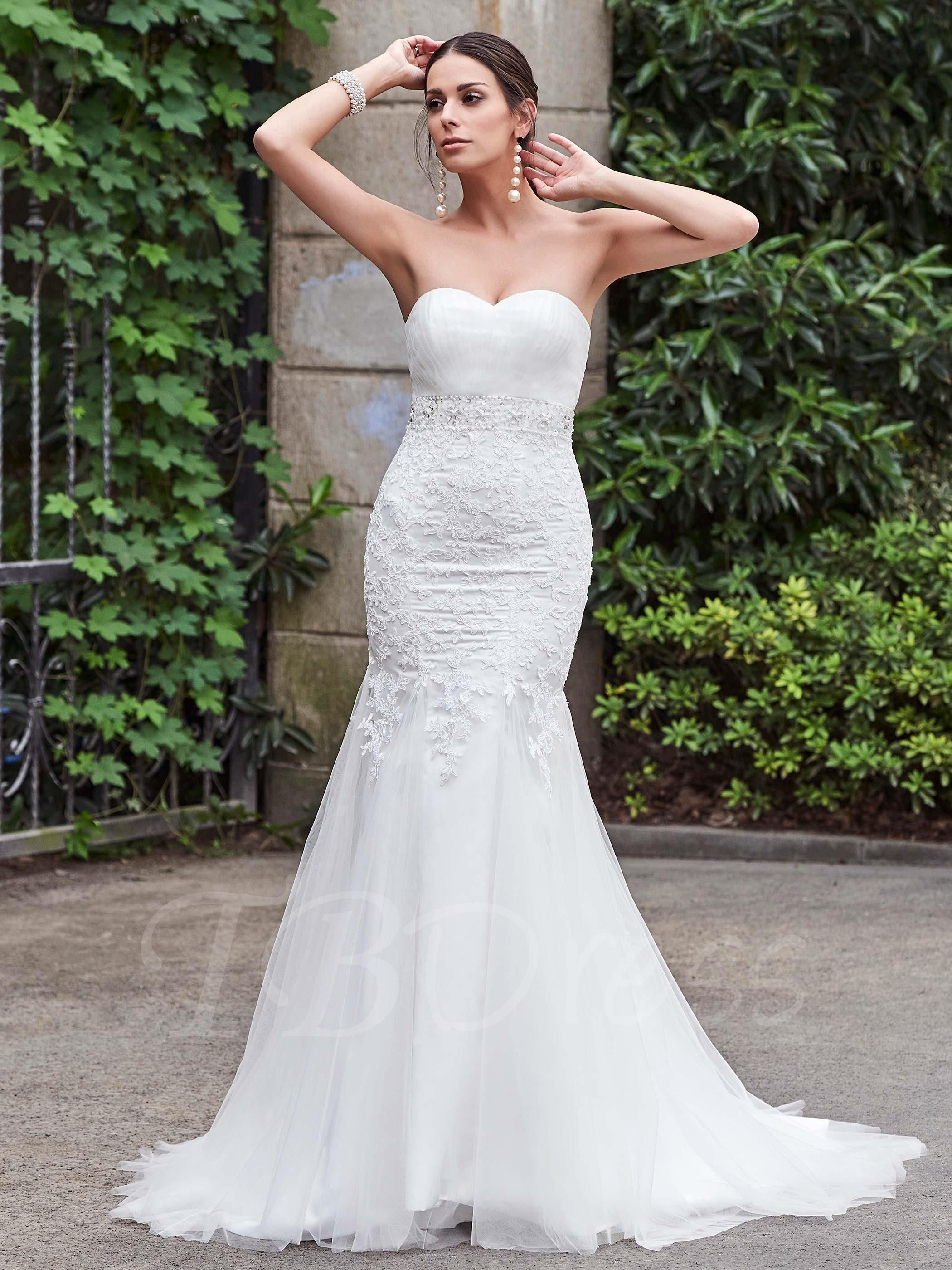 Wedding dress without train  Valentines AdoreWe TBDress  TBDress Sweetheart Lace Beading