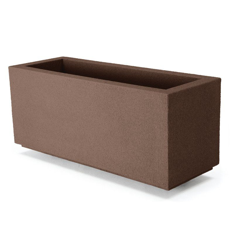 Poly Stone Milan Tall Trough 4 Ft. Outdoor Planter