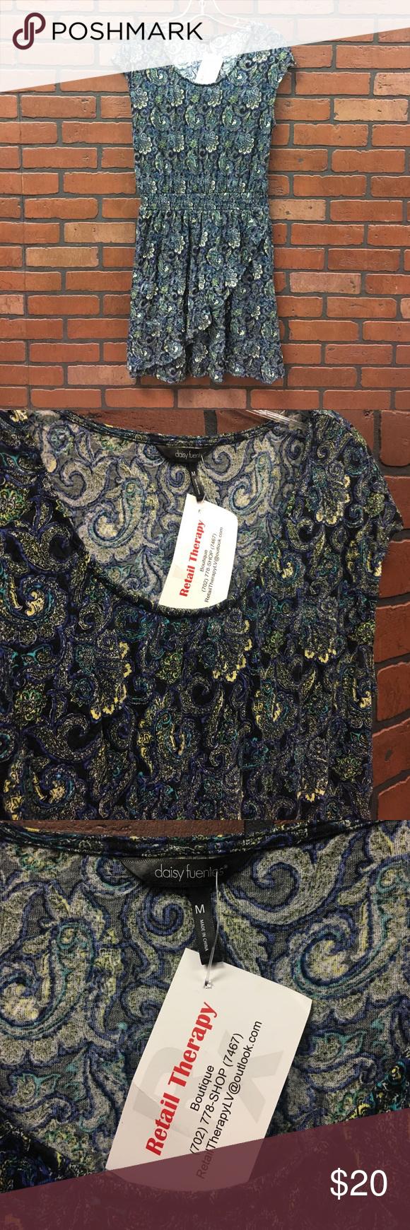 Daisy Fuentes Floral Dress Great condition! Elastic waist 😀 Daisy Fuentes Dresses Midi
