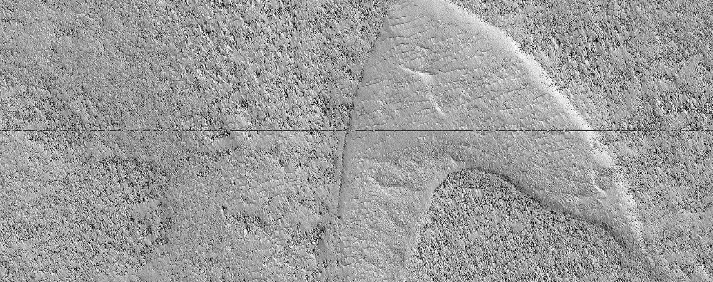 NASA Spacecraft Spots 'Star Trek' Logo on Mars Space