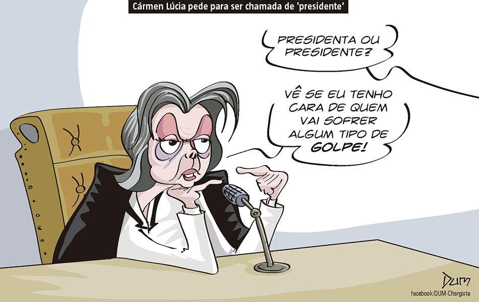 Charge de opinião do Dum sobre a decisão de Carmem Lúcia (11/08/2016). #Charge #Dum #CarmemLúcia #Impeachement #Presidenta #HojeEmDia