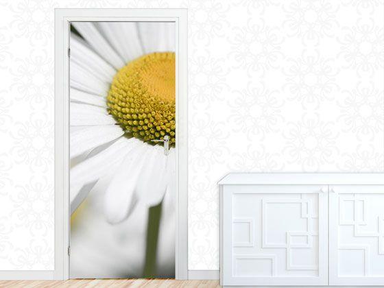 Türbild Türaufkleber Tür Deko #Türposter #Gänseblümchen Blume weiß - gelbe dekowand blume fr wohnzimmer