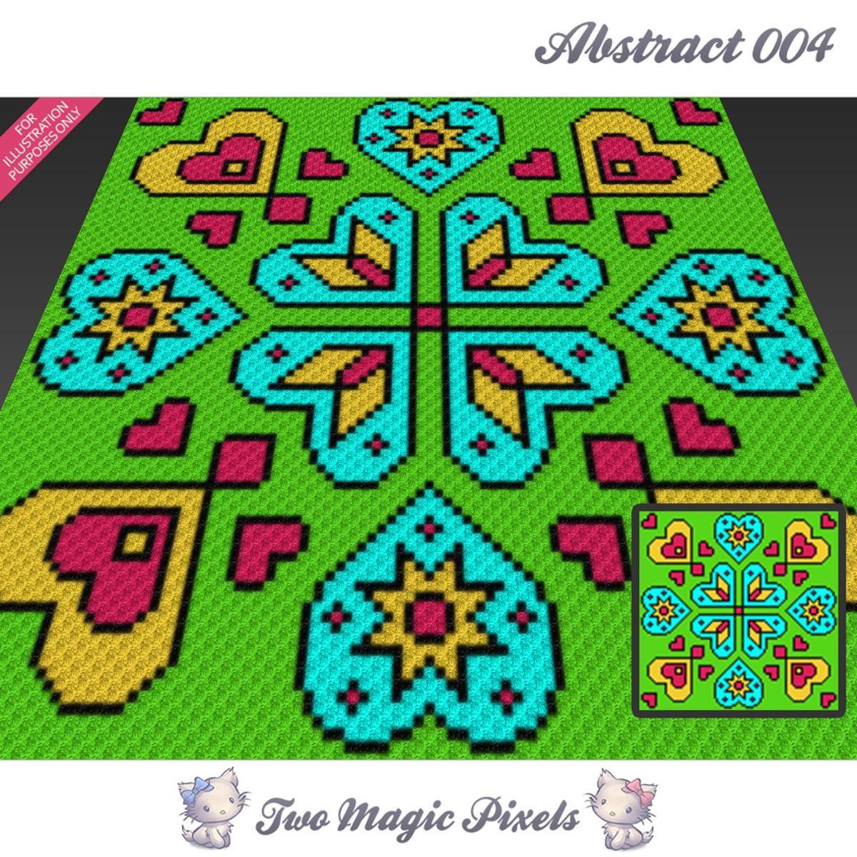 Abstract 004 C2C Crochet Graph   Tejido