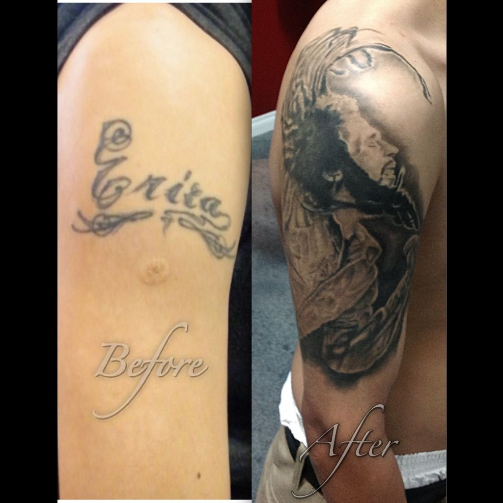Tattoo Cover Up Name Bob Marley