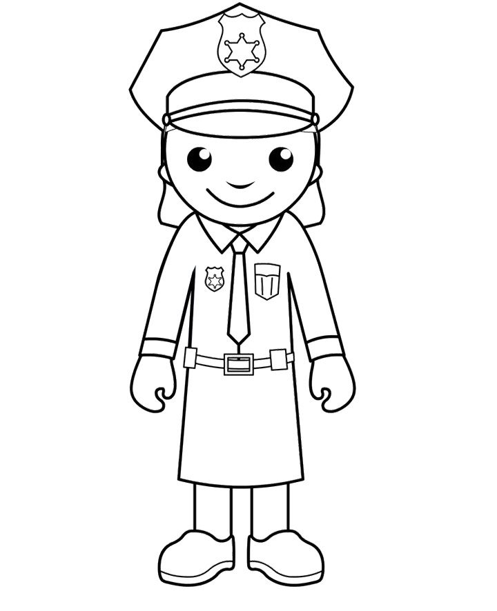 Free Printable Police Women Coloring Pages | Police crafts ...