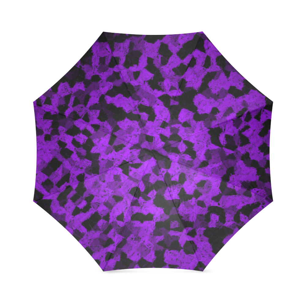 Black and Purple chalk pattern small Foldable Umbrella by Khoncepts