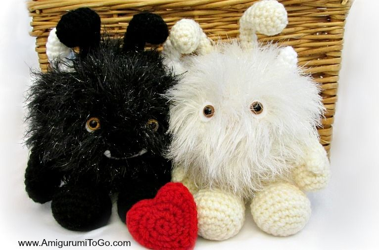 Make just one or both of these Monster Love Bugs if you want. It's such a cute amigurumi crochet pattern that you almost have to work up both of them!