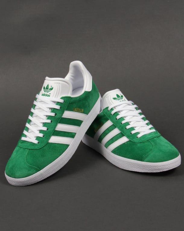 Adidas Gazelle Trainers Green/White