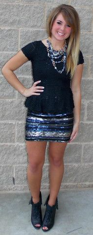 Picture of Sequin Mini Skirt