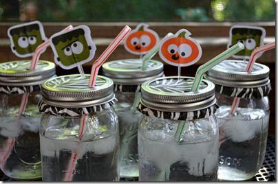 Mason Jar Fall Crafts for Halloween Fun Cups
