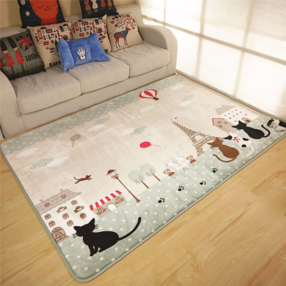 190X240CM Cartoon Cat Carpets For Living Room Kids Bedroom Rugs And ...