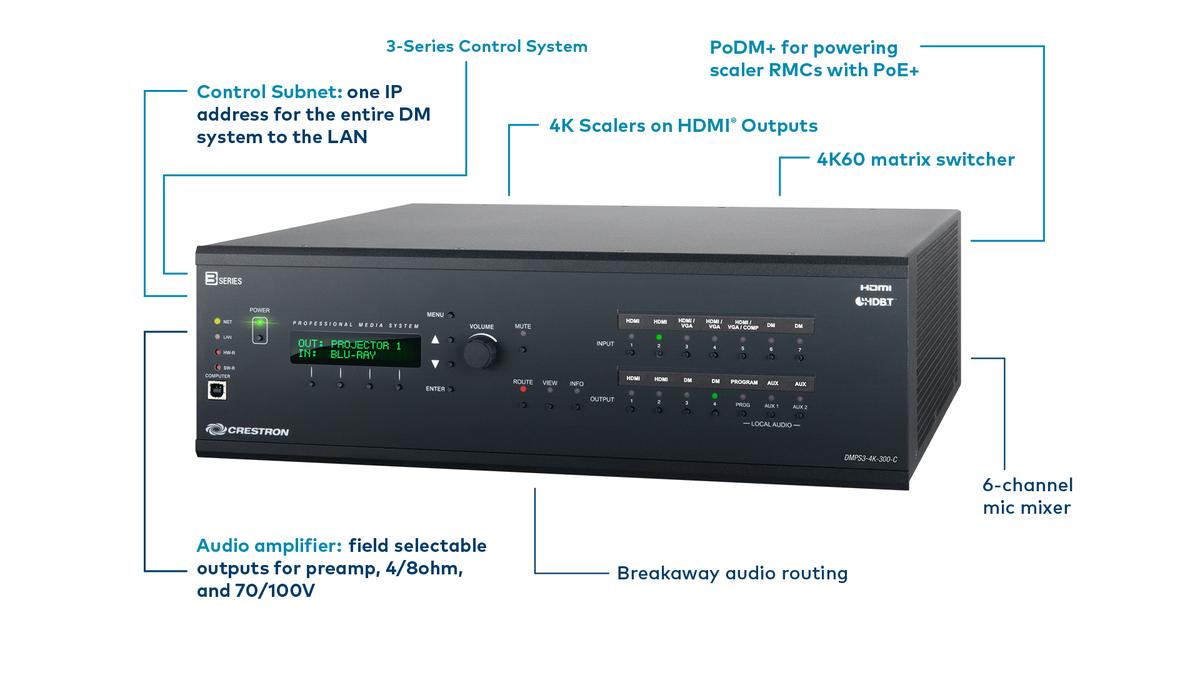 Crestron Dmps3 350 C Audio Amplifier Audio Control System