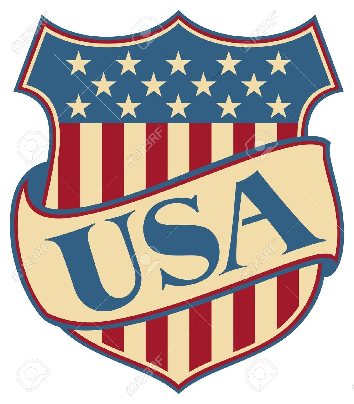 United States Of America Shield Usa American Patriotic Symbol