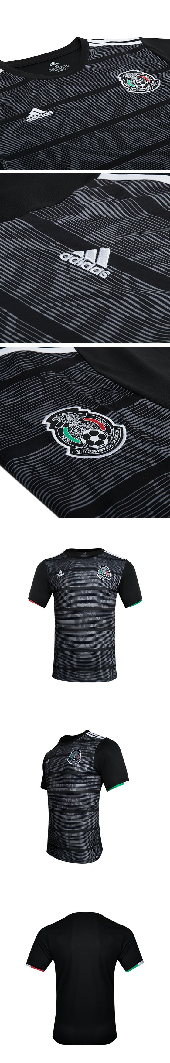2019 Mexico Gold Cup Home Black Soccer Jerseys Shirt(Player Version