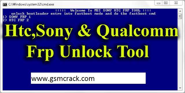 Htc,Sony & Qualcomm Frp Unlock Tool Free Download | Places to visit