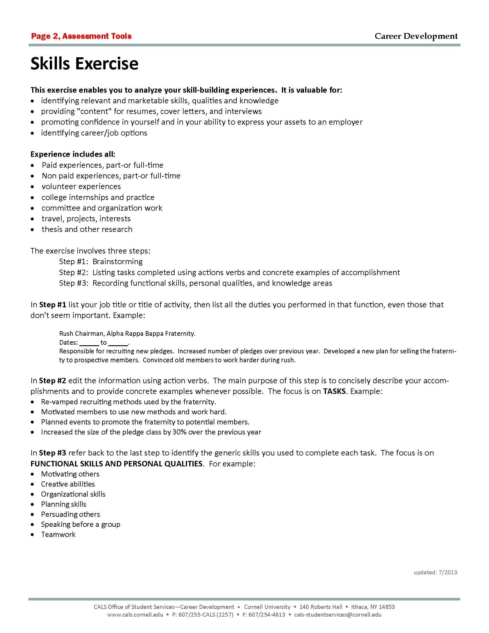Do This Great Exercise To Help You Build Better Career Documents And Prepare For Interviews View It Onlin Career Exploration Career Advice Career Development