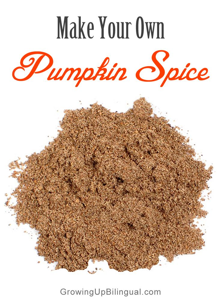 Make Your Own Pumpkin Spice – Haz Tu Propio Pumpkin Spice